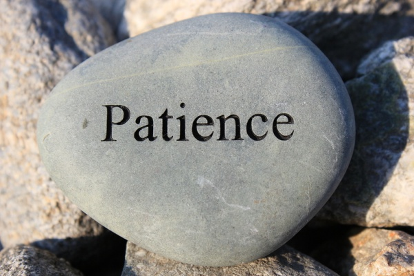 Rock that says patience