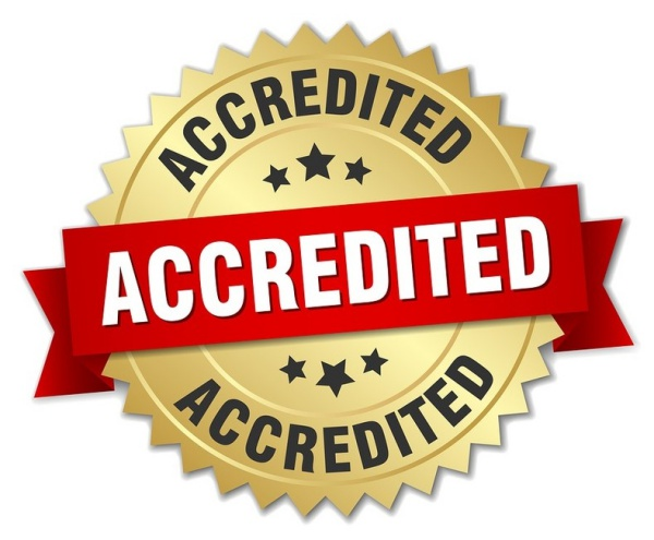 "Sign saying ""Accredited"""