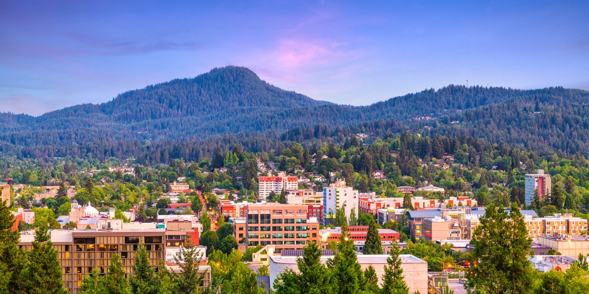 city view of a county in Oregon that is experiencing a meth epidemic