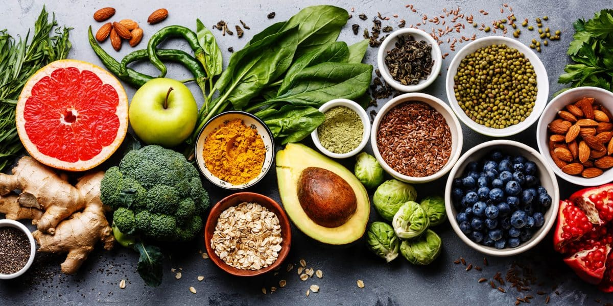 variety of healthy alcohol detox foods